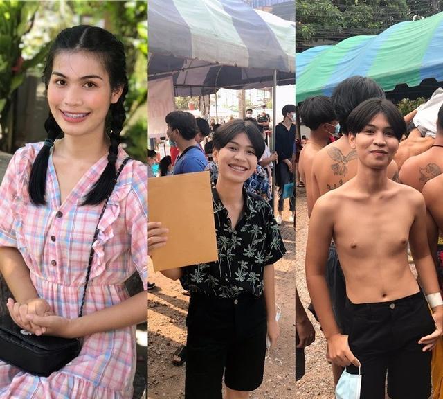 为圆儿时梦,泰国变性人小姐姐剪短发扮男装参加征兵抽签