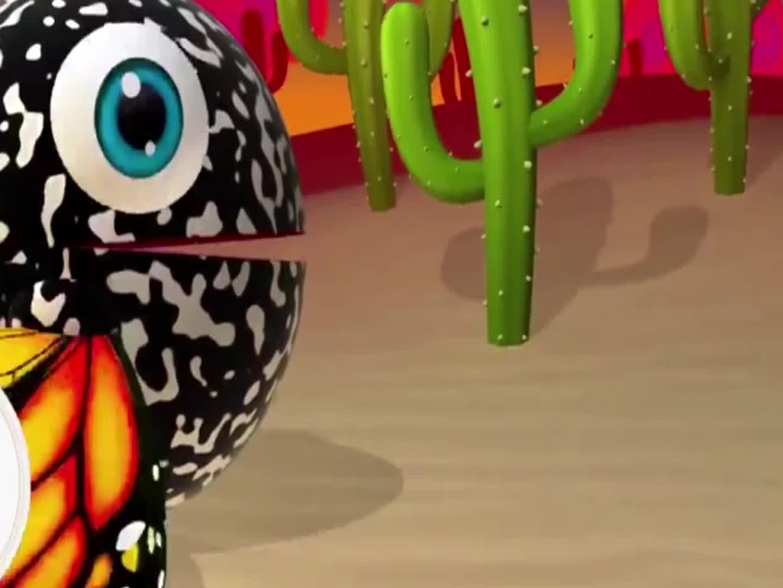 球球彩色滑梯追赶消防车,益智动画学颜色