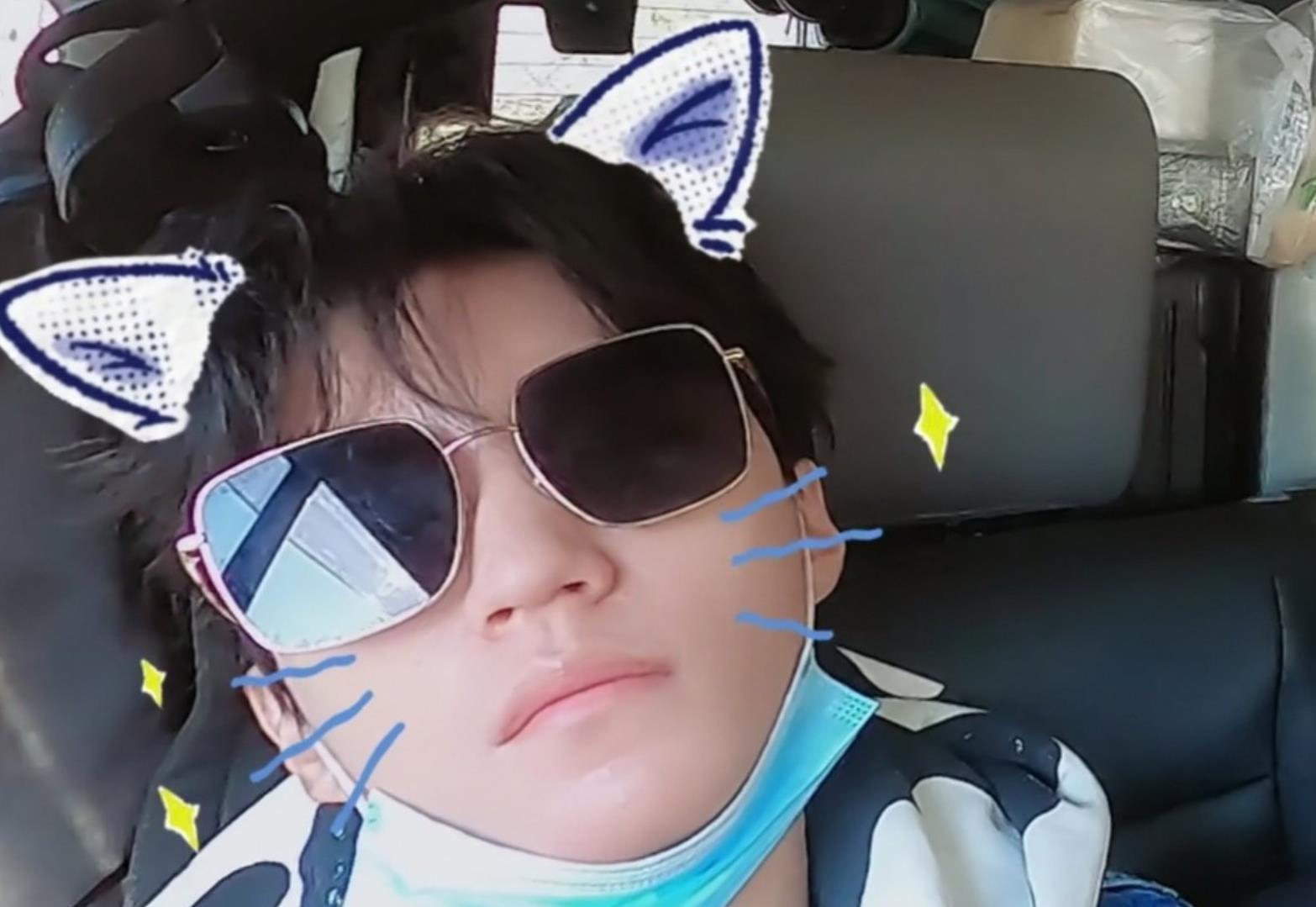 王俊凯睡觉还戴墨镜,董子健犀利吐槽,暴露小凯熟睡后的五官特征