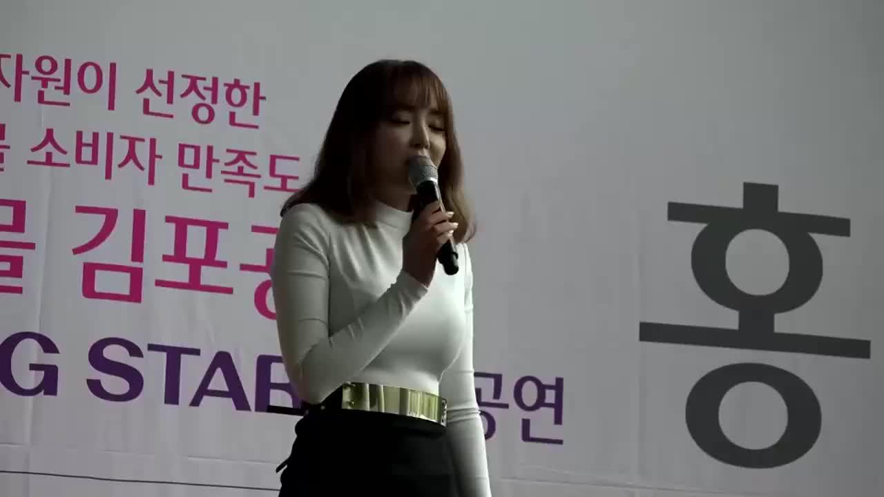 韩国民谣女神洪真英,姐也太会调动气氛了,国民人气也不是盖的!