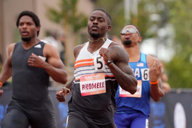 9秒77,布罗梅尔百米首破9秒80 奥运金牌稳了 比苏炳添快0.21秒