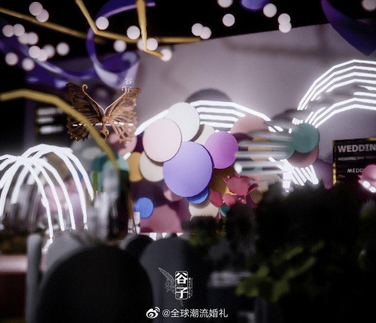 顾素描大师糖果婚礼3D设计体现婚礼手绘:@婚礼手绘老师顾子