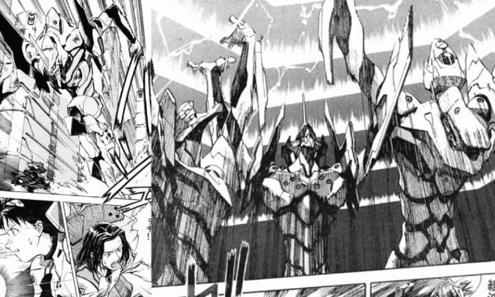 『贞本义行』作画漫画《新世纪福音战士》第30话 承受重力攻击!