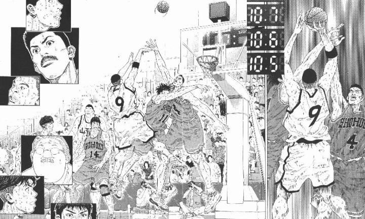 『井上雄彦』原作漫画《SLAM DUNK》第274话 5对4