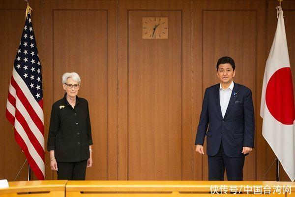 """美副国务卿舍曼与日防长岸信夫会晤再提""""台海和平稳定重要性"""""""
