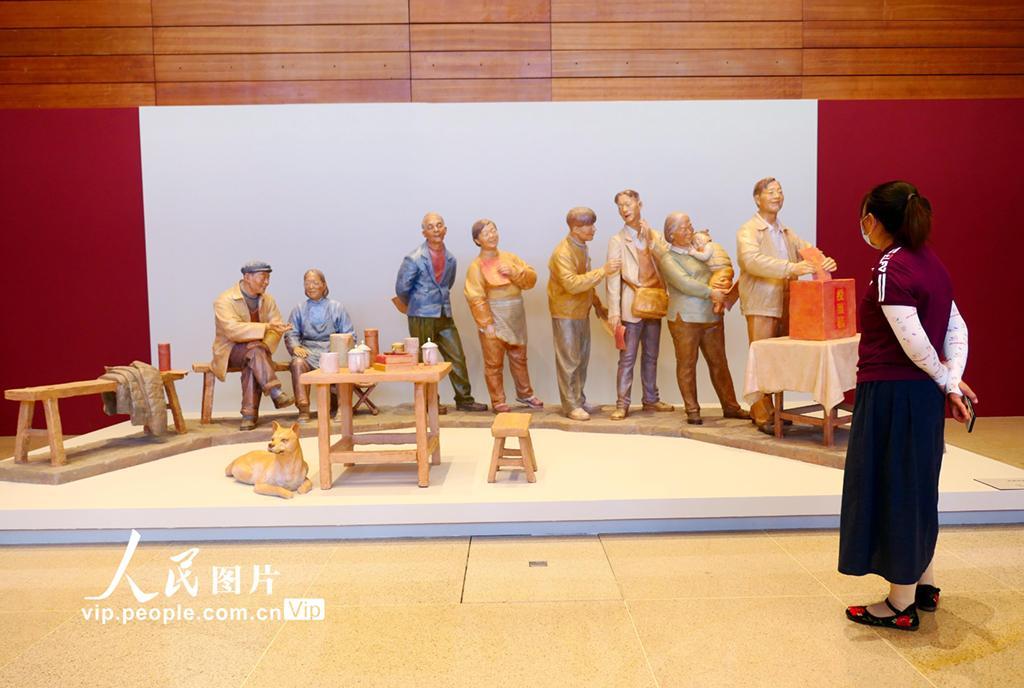 """""""百年巨变——雕塑作品展""""在国家博物馆举办"""