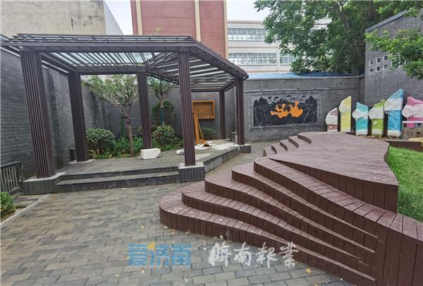 精美的浮雕,惬意的长廊 济南老城区将再添一处街心公园