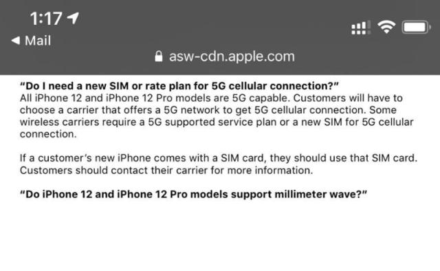 苹果承认iPhone 12无法启用5G,将通过软件升级修复Bug
