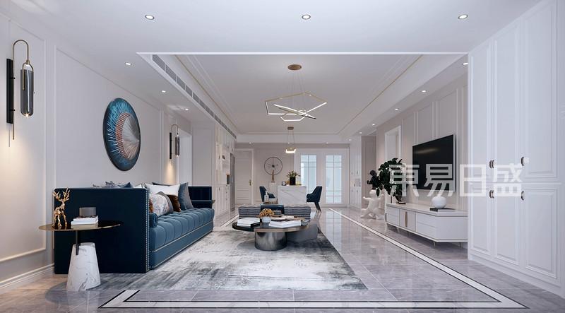 中粮祥云 170㎡ 四居室 美式风格装修案例