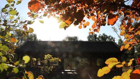 (环境)承德避暑山庄及周围寺庙秋景如画