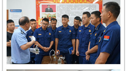 柳南区毒品预防宣传教育走进消防大队