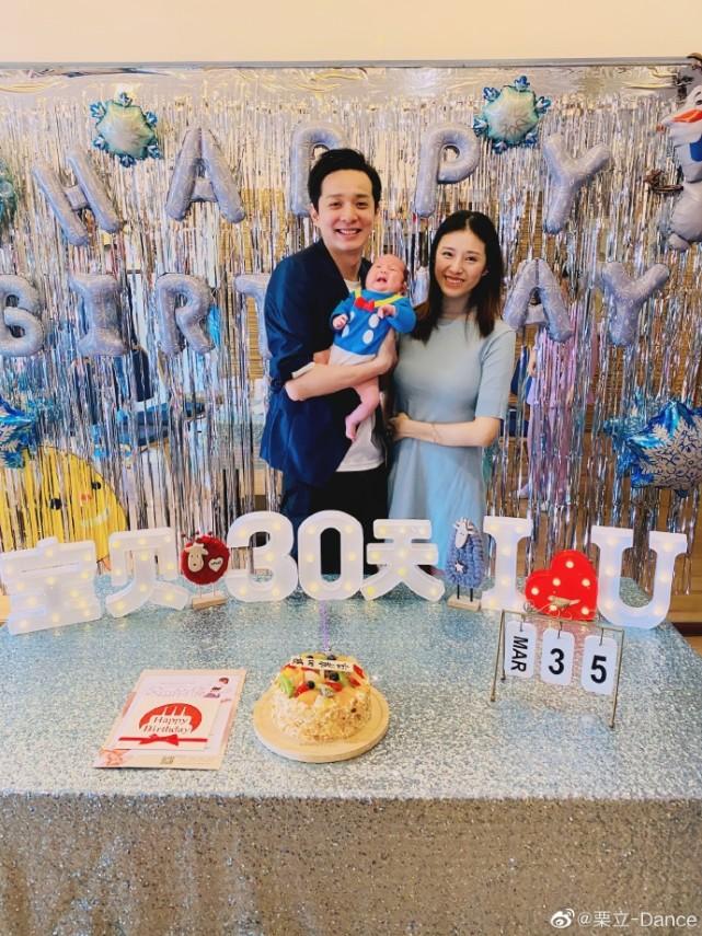 刘智扬与老婆同年同月同日生,今晒女儿小琉璃满月照超幸福