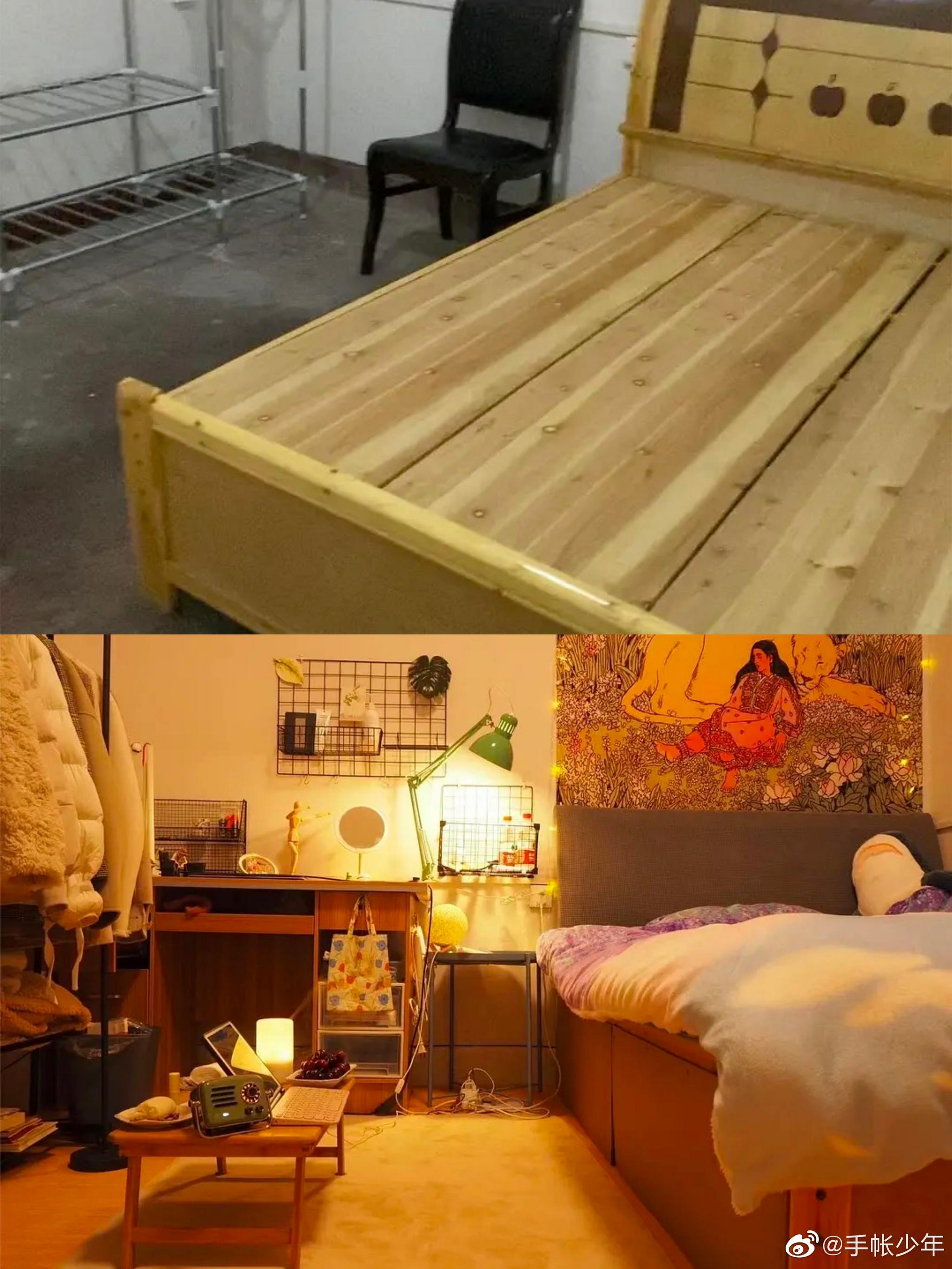 把毛坯房宿舍改造成一人居温馨小窝
