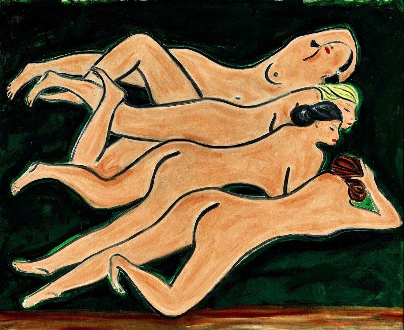《绿色背景四裸女》2.58亿成交 有什么含义及作品赏析