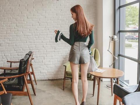 金惠美高腰休闲短裤,成熟美丽显性感身材