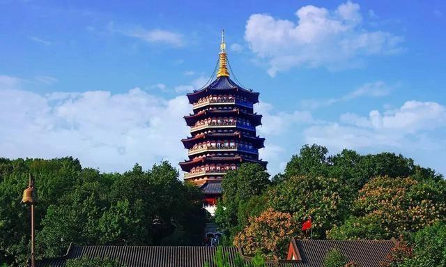 """浙江很受欢迎的一座古塔,有千年历史,曾被命名为""""皇妃塔"""""""