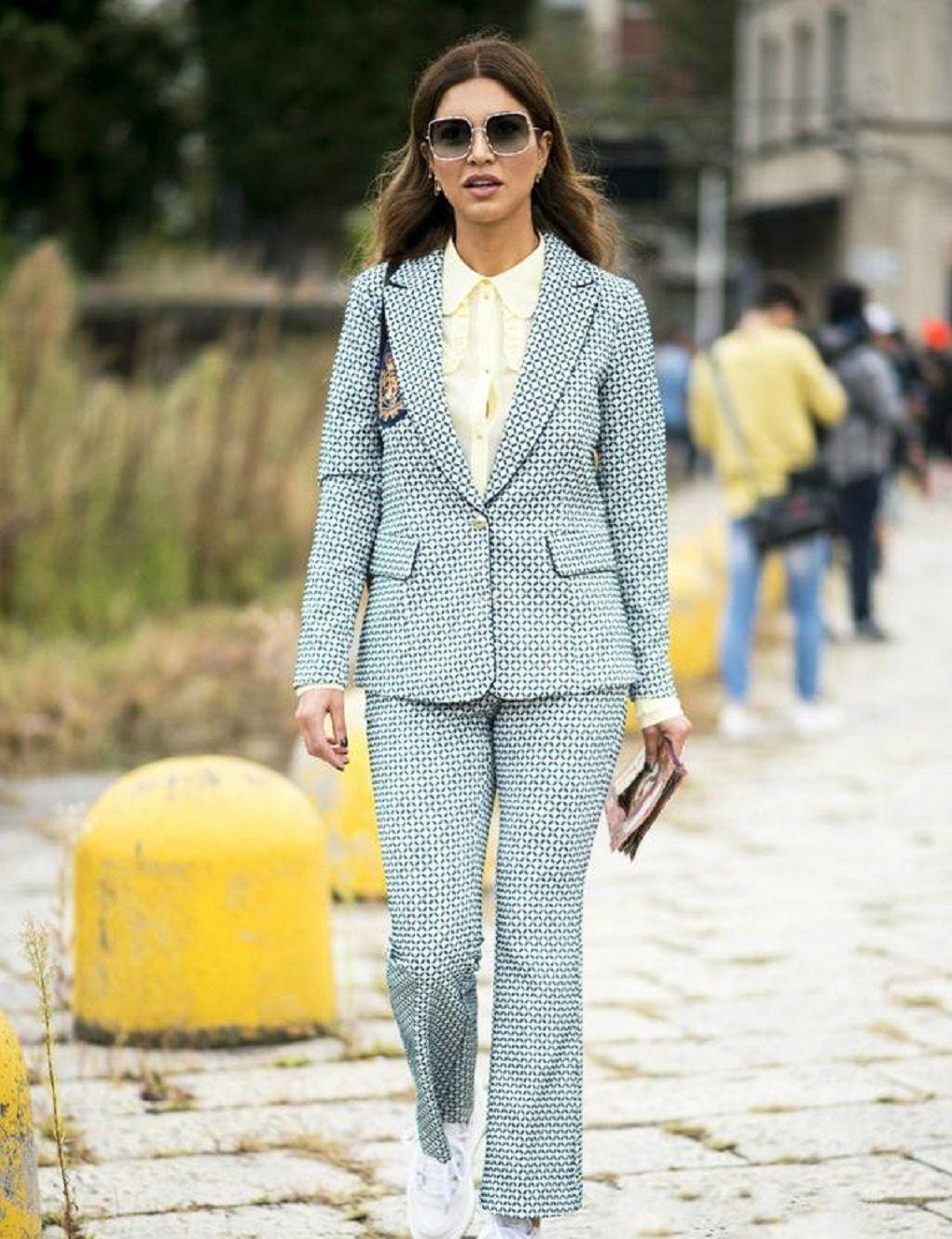 """开春火了一种新潮流,叫""""西装+豆腐鞋"""",优雅干练之余又减龄!"""