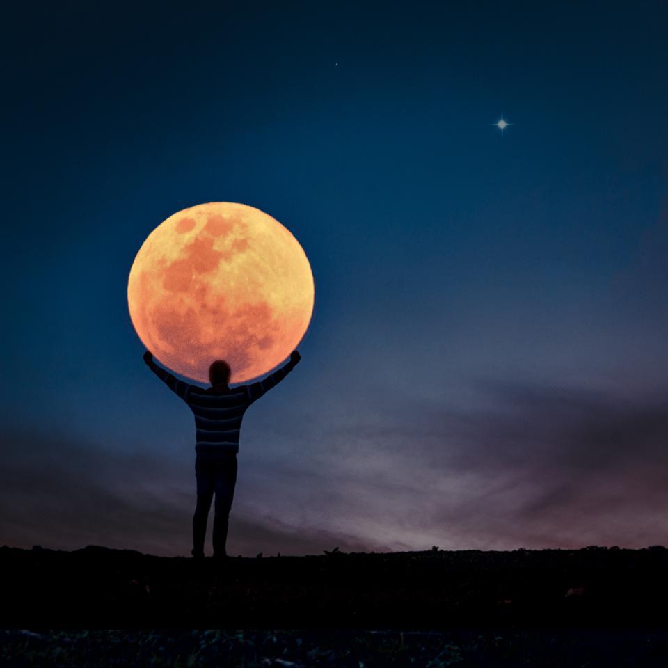 """2020超级月亮:注意!四月的""""粉红月亮""""将在本"""