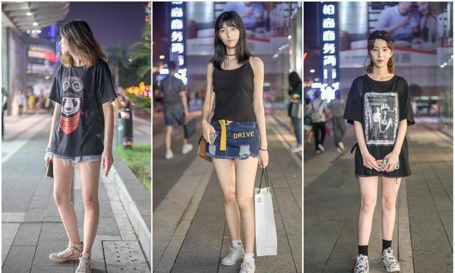 街头潮人黑色系穿搭,一件式T恤显个性时尚,头巾大耳环优雅气质
