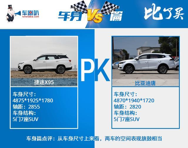 捷途X95对比比亚迪唐,旗鼓相当的两款大空间SUV