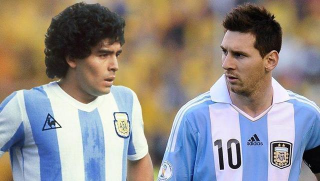 马拉多纳带领阿根廷队,拿过世界杯,而梅西却没有这能力