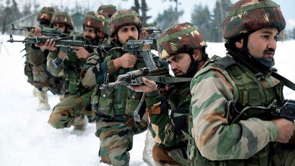 资料图片:印度陆军士兵