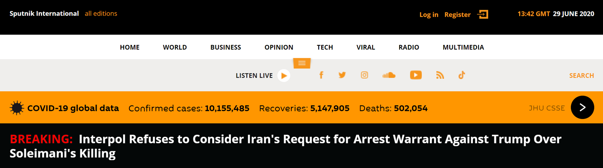 国际刑警组织拒绝协助逮捕特朗普:不考虑伊朗的任何请求