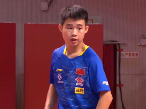 国乒亚青赛冠军小将强势逆转!3-2险胜全国冠军夺下首胜