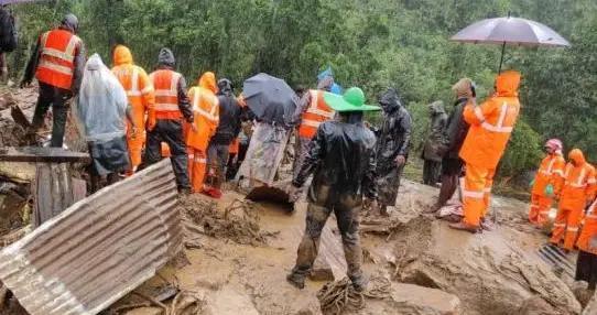 印度喀拉拉邦蒙纳茶园滑坡死亡人数升至43人 暴雨将持续