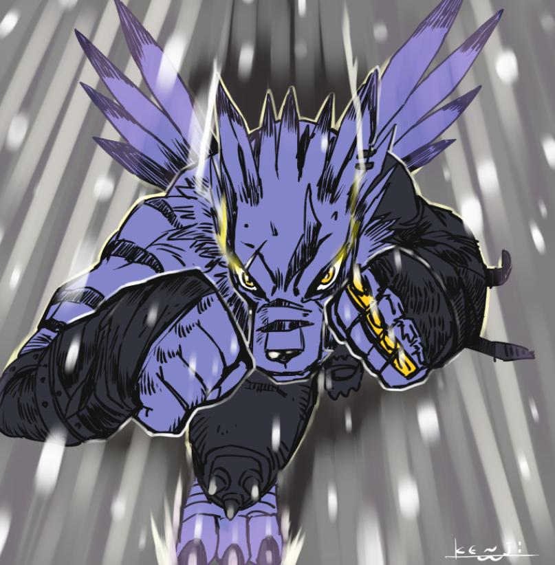 《数码宝贝》:兽人加鲁鲁登场,战力爆炸秒杀全场