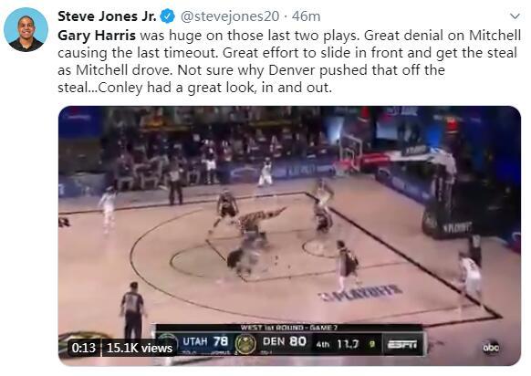 全场比赛他还拿下30分14篮板4助攻,命中率52.2%