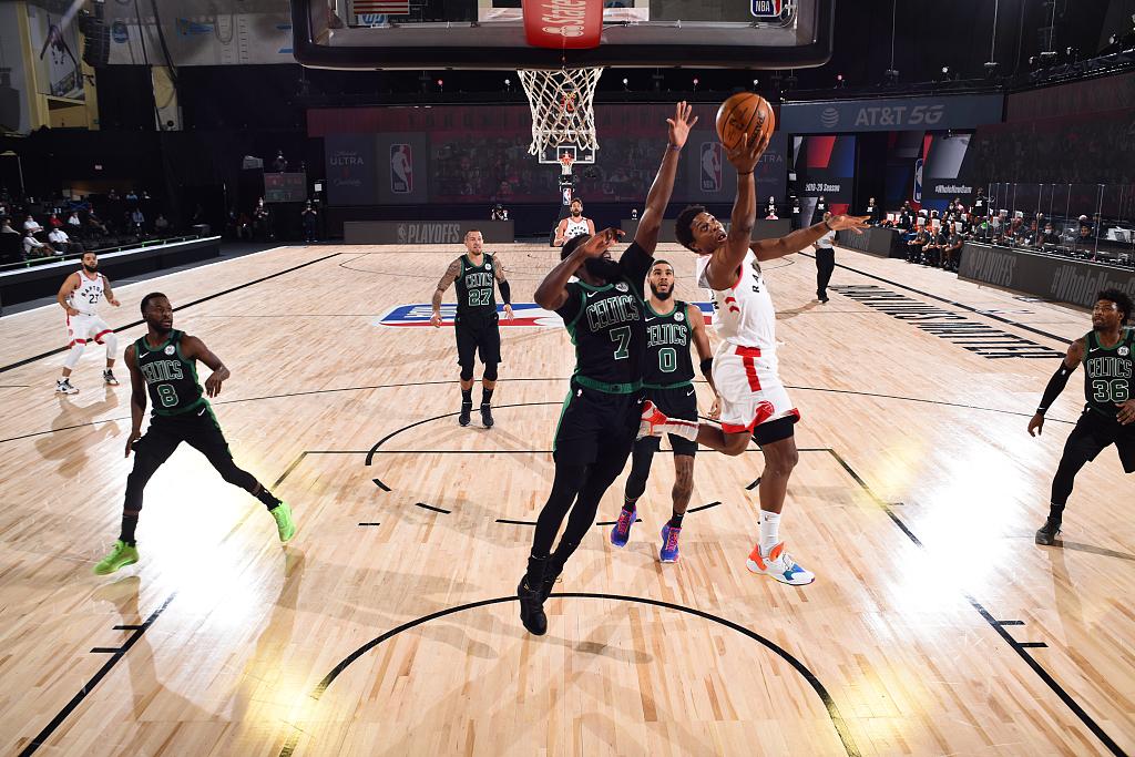 NBA季后赛半决赛凯尔特人和猛龙第二战继续进行