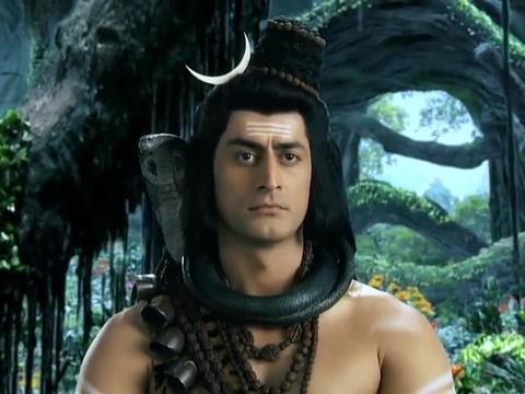 帕尔瓦蒂来到梵天家中,莲花座上却不见梵天的妻子