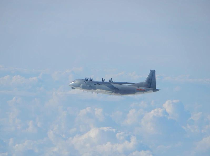 解放军运9型机。图源:台防务部门