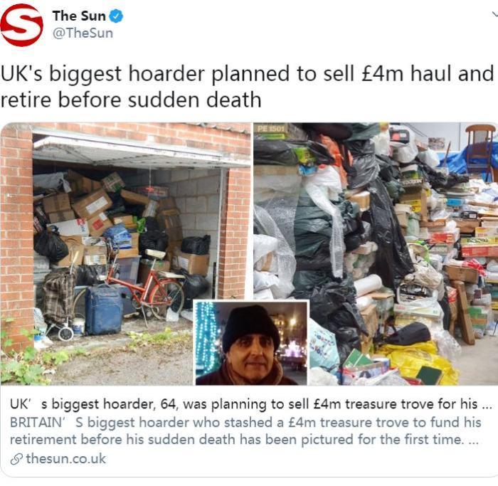 图片领源:英国《太阳报》中交网站官间账号截图