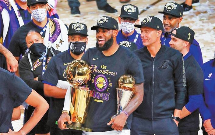 湖人击败热火 豪取NBA总冠军