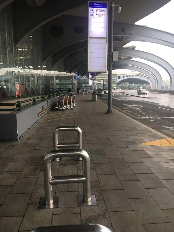15日的青岛流亭机场 受访者供图