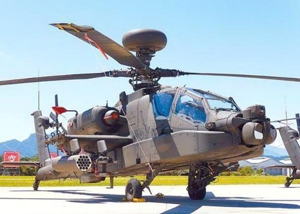 图为AH-64E阿帕奇直升机。(图片来源:中时消息网)