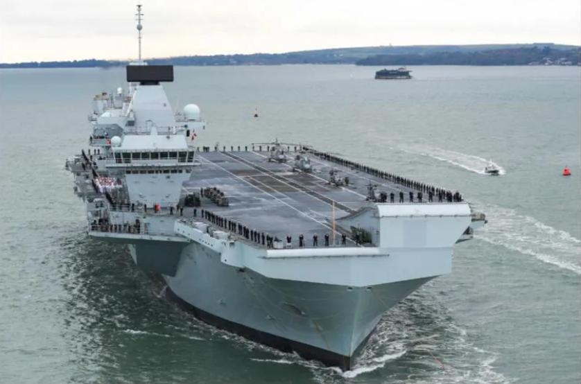 """""""威尔士亲王""""号航母资料图,图源:英国海军官网"""