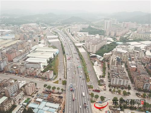 ■9月30日,常虎、龙大高速公路大岭山互通立交开通运营东莞交投集团供图