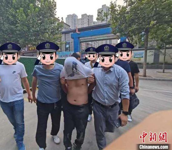 逃犯靳某被警方抓获。广宗县公安局供图