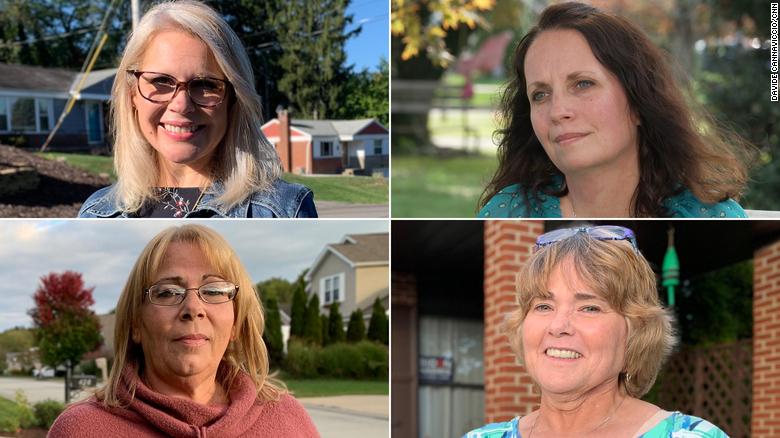 CNN采访了四位宾州的前特朗普声援者,她们外示今年会投拜登(右下为斯梅泽)