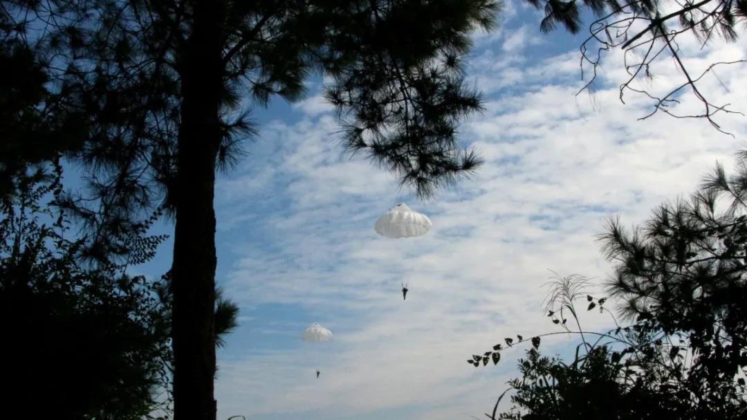 特战女兵伞降训练