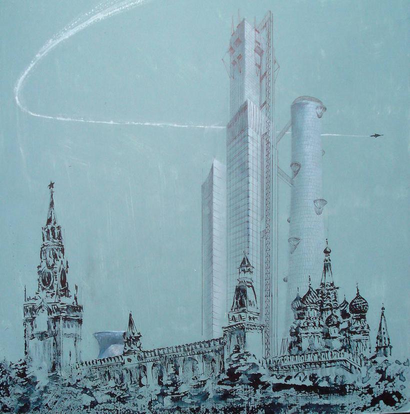 但伊万·莱奥尼朵夫的设计更添疯狂,远远超过30年代苏联的技术程度