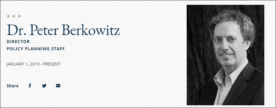 彼得·伯科维茨,美国务院官方原料