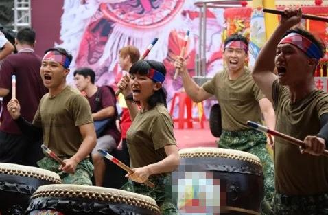 台陆军584旅战鼓队 图自台军媒