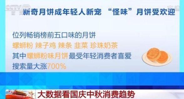 螺蛳粉味月饼搜索量上涨700% 大数据看国庆中秋消费趋势