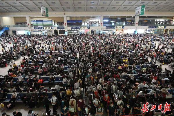 国庆中秋客流叠加,武汉机场火车站旅客量均创下新高