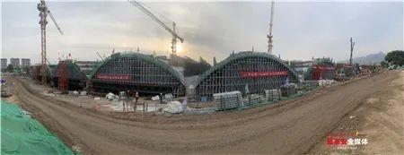 迎胜路南延建设工程泮河大桥主拱圈浇筑完成