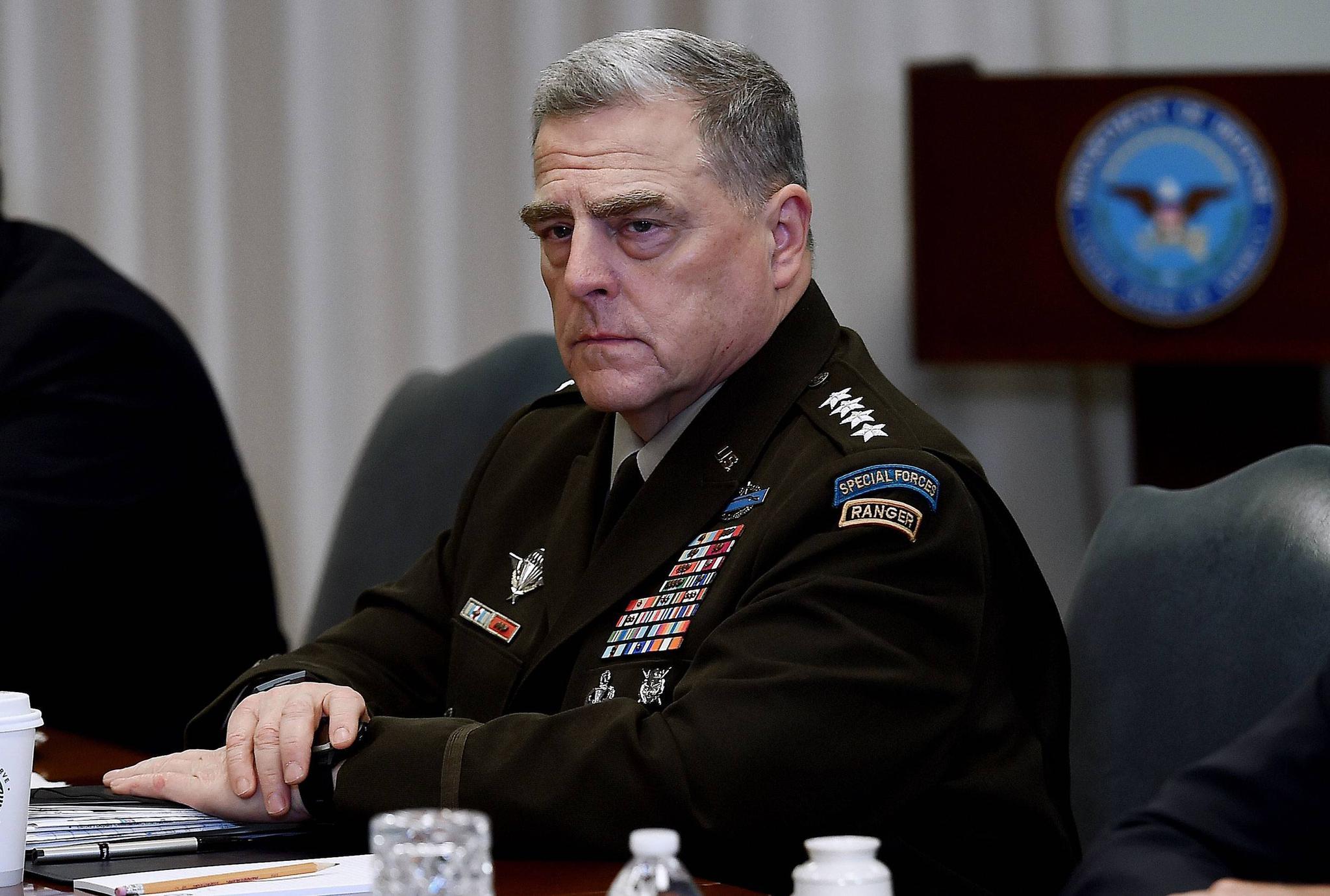 曾与新冠确诊患者接触,美军最高将领马克·米利正接受隔离
